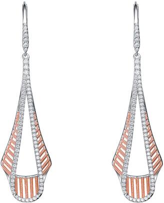 Genevive 18K Rose Gold Over Silver Earrings