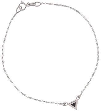 Jennifer Meyer Black Onyx Inlay Triangle Bracelet - White Gold