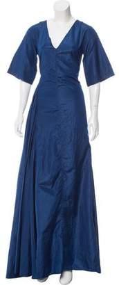 Rosie Assoulin Iridescent Silk Dress
