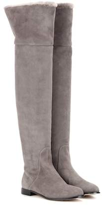 Jimmy Choo Marshall Flat suede over-the-knee boots