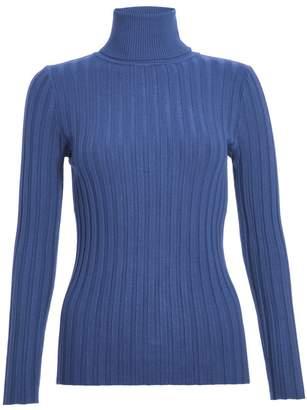 Quiz Light Blue Knit Roll Neck Jumper
