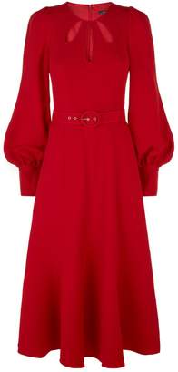 Andrew Gn Belted Flared Midi Dress