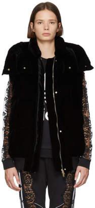Stella McCartney Black Fluid Velvet Vest