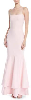 LIKELY Aurora Double-Flounce Hem Gown