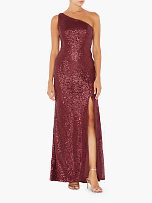 Adrianna Papell Sequin Mermaid Dress, Deep Wine