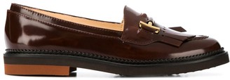 Tod's fringed flap loafers