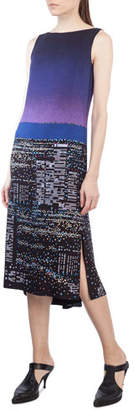 Akris Punto Sleeveless Twilight City Tunic Dress