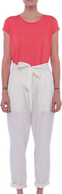 French Connection Geada Lightweight Denim Tapered Trousers, Summer White