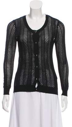 The Kooples Open Knit button-Up Cardigan