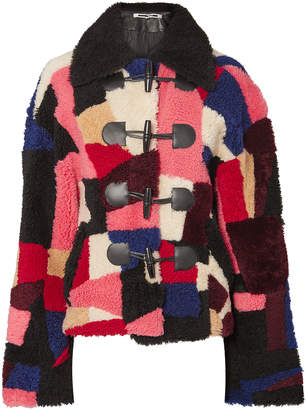 McQ Multi Patchwork Shearling Jacket