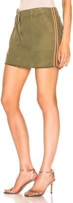 Nili Lotan Ilona Skirt with Tape in Uniform Green, Orange, & Navy Blue | FWRD