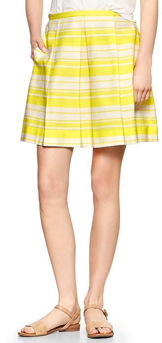 Gap Pleated stripe skirt