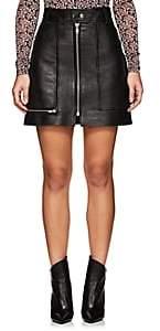 Etoile Isabel Marant Women's Alynna Leather Miniskirt - Black
