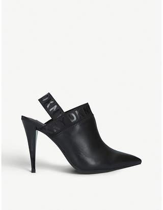 DKNY Kris slingback leather courts