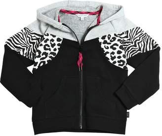 Little Marc Jacobs Zip Up Hooded Cotton Sweatshirt