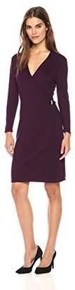 Calvin Klein Women's Long Sleeve Mock Wrap Sweater Dress