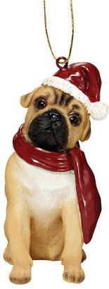 Toscano Design Pug Holiday Dog Ornament Sculpture