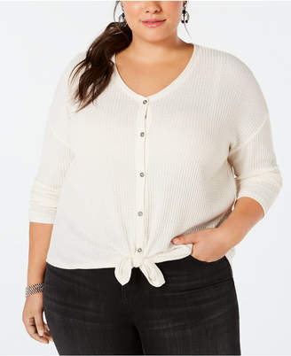 Style&Co. Style & Co Plus Size V-Neck Thermal Top