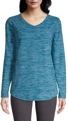 ST. JOHN'S BAY SJB ACTIVE Active V-neck Polar Fleece - Tall