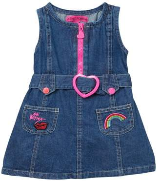 Betsey Johnson Denim Heart Buckle Dress (Baby Girls)