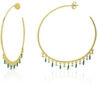 b9a03c982 John Greed Neith Gold Plated Silver Enamelled Hoop Earrings