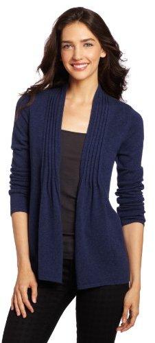 Design History Women's 100% Cashmere Shawl Cardigan Sweater