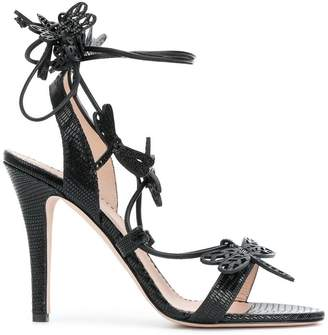RED Valentino dragonfly detail sandals