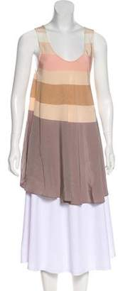 Marc by Marc Jacobs Silk Sleeveless Tunic Top