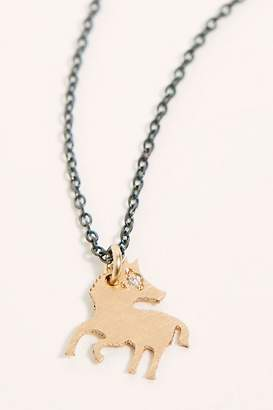 Marion Cage 14k Diamond Chinese Zodiac Charm Necklace