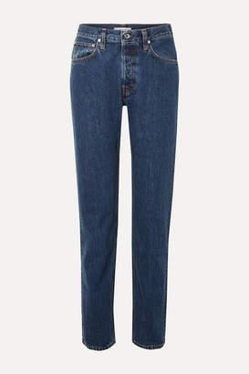 Helmut Lang Masc High-rise Straight-leg Jeans - Mid denim