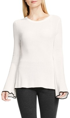 Petite Women's Vince Camuto Bell Sleeve Sweater $89 thestylecure.com