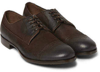 Dolce & Gabbana Washed-Leather Derby Shoes - Men - Brown