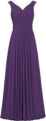 ANTS Formal Straight Straps Long Bridesmaid Dresses Chiffon Prom Gowns Size 26W US