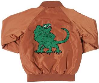 Mini Rodini Dinosaur Patch Nylon Bomber Jacket