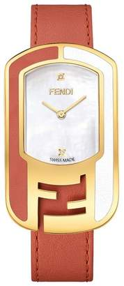Fendi Chameleon Leather Strap Watch, 29mm x 49mm