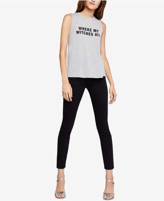 BCBGeneration Where My Witches At? Graphic-Print Tank Top