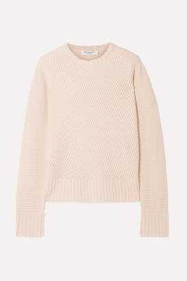 Equipment Abril Ribbed Wool And Cashmere-blend Sweater - Pastel pink