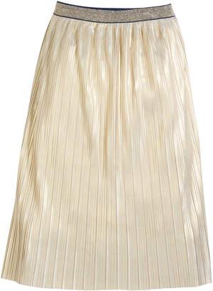 Kate Spade printed foil metallic skirt, size 7-14