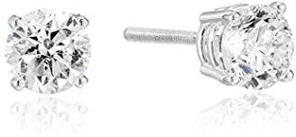 14k Gold Round Cut Diamond Screw Back and Post Stud Earrings (3/4cttw