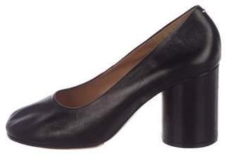 Maison Margiela Leather Round-Toe Pumps