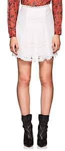 Isabel Marant Women's Floral-Embroidered Voile Miniskirt-White