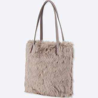 Uniqlo Faux Shearling Tote Bag