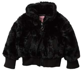 Urban Republic Faux Fur Bomber Jacket (Baby Girls)