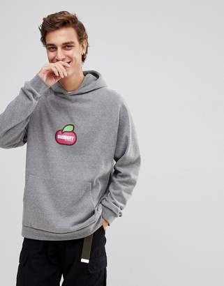 Element Hoodie With Center Fruit Logo In Gray