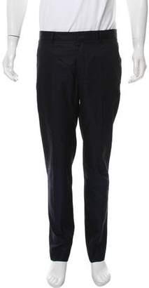 Maison Margiela Herringbone Pattern Flat Front Pants