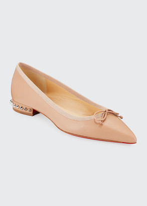 Christian Louboutin Hall Red Sole Ballet Flats