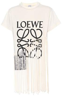 Loewe Fringe cotton and silk T-shirt