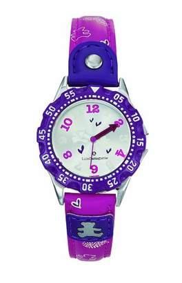 Lulu Castagnette 38580 Girls Watch Quartz Analogue Grey Dial Pink Leather Strap
