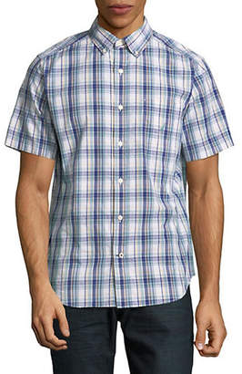 Nautica Plaid Woven Short Sleeve Sport Shirt