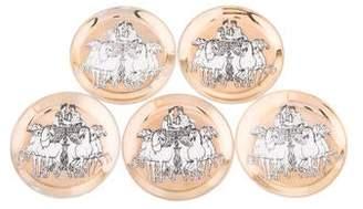Fornasetti Set of 5 Roman Chariot Coasters